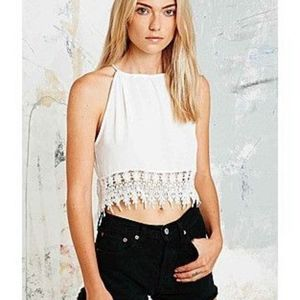 Staring at Stars Crochet White Trimmed Cami